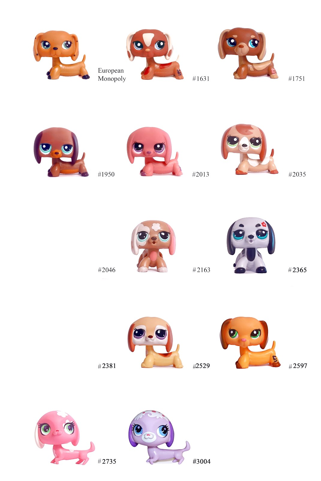 Lps Dachshund Numbers