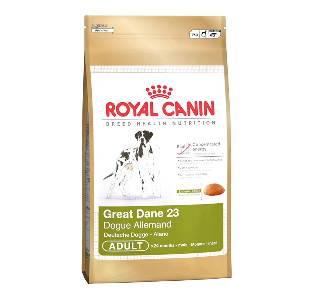best dog food for great dane adults