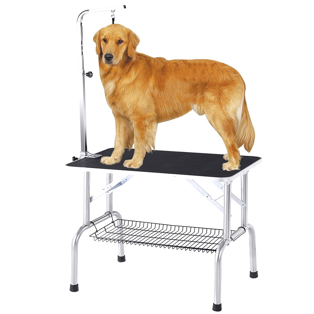 how to use a grooming table for dogs