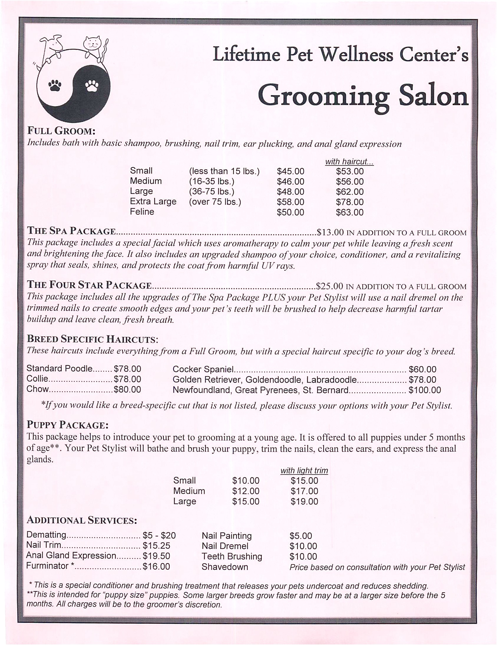 mobile dog grooming near me prices