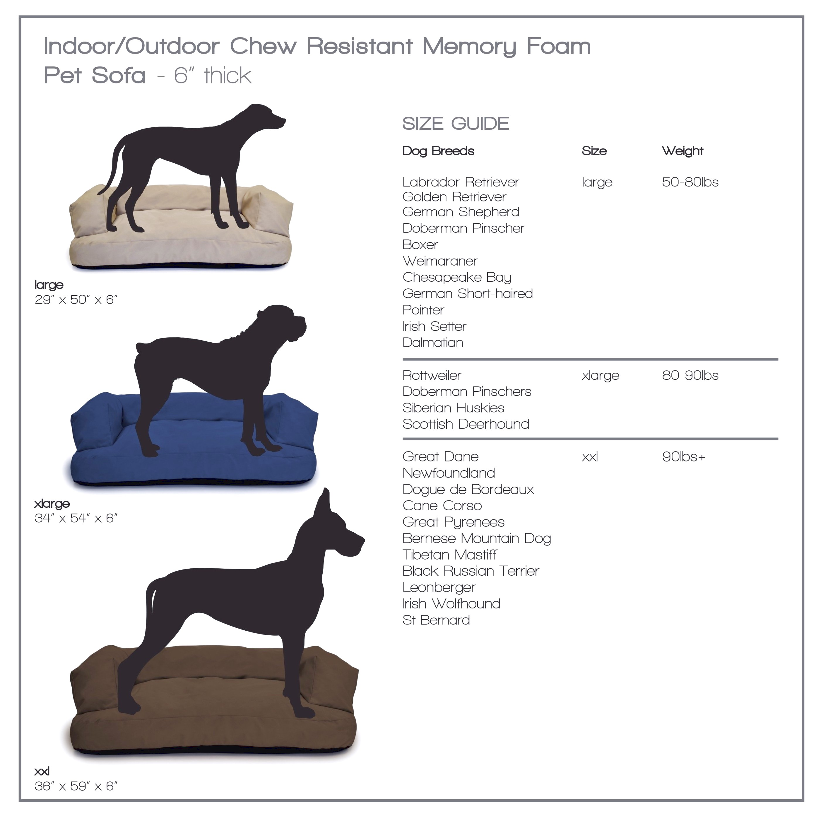 outdoor dog beds for great danes