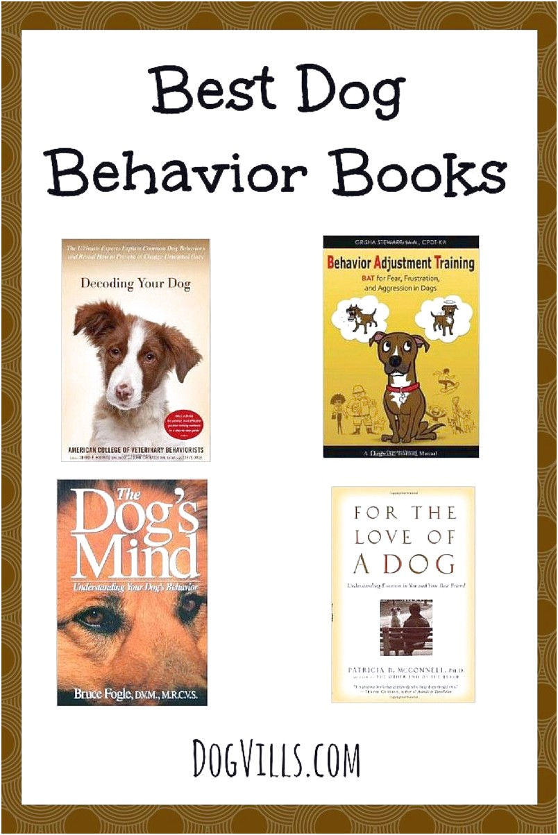 best books dog behavior training